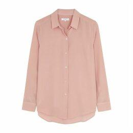 Equipment Essential Pink Silk Shirt