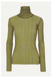 McQ Alexander McQueen - Ribbed Cotton Turtleneck Sweater - Bright yellow