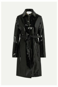 Paco Rabanne - Belted Vinyl Trench Coat - Black