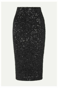 Rebecca Vallance - Mica Sequined Lurex Skirt - Black
