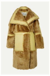 Acne Studios - Luelle Oversized Paneled Shearling And Leather Coat - Tan
