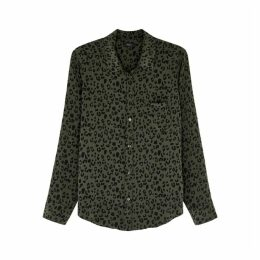 Rails Kate Cheetah-print Silk Shirt
