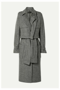 RtA - Harlow Belted Wool Trench Coat - Gray
