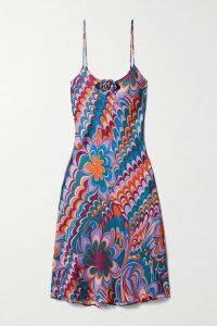 Dion Lee - Two-tone Cutout Crepe Midi Dress - Black