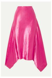 Sies Marjan - Darby Asymmetric Satin Midi Skirt - Pink