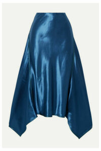 Sies Marjan - Darby Asymmetric Satin Midi Skirt - Blue