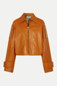 Acne Studios - Lozoa Cropped Leather Jacket - Light brown