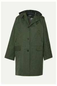 Kassl Editions - Hooded Canvas Coat - Green
