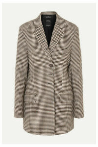 Rokh - Oversized Houndstooth Tweed Blazer - Sand