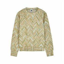 M Missoni Metallic-knit Logo Sweatshirt