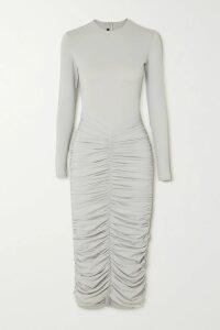 Givenchy - Floral-print Silk-chiffon Midi Dress - Black