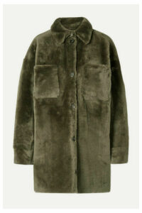 UTZON - Shearling Coat - Army green