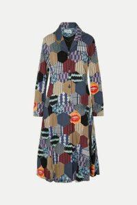Loewe - Patchwork Woven Coat - Black