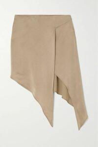 Givenchy - Ruffle-trimmed Plissé-satin Mini Dress - Black