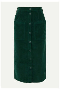 See By Chloé - Moleskin Cotton-blend Midi Skirt - Green