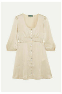 ALEXACHUNG - Satin Mini Dress - Cream