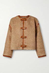 De La Vali - Ginger Appliquéd Velvet Mini Dress - Chartreuse
