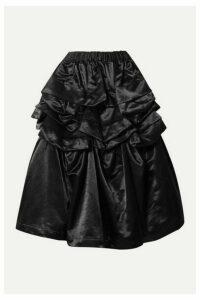 Comme des Garçons Comme des Garçons - Ruffled Cotton-blend Satin Skirt - Black