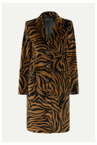 Nili Lotan - Rosalin Zebra-print Cotton-velvet Coat - Brown