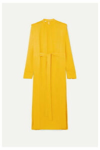 Stella McCartney - + Net Sustain Belted Cady Midi Dress - Yellow