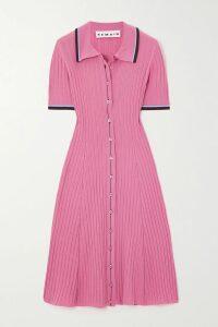 APIECE APART - Victoria Floral-print Cotton-gauze Mini Dress - Burgundy
