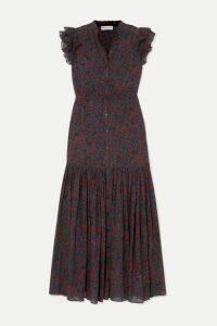 APIECE APART - Pacifica Floral-print Cotton-gauze Maxi Dress - Burgundy