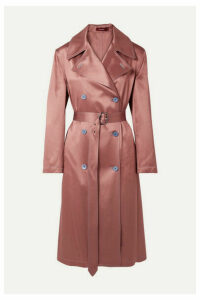 Sies Marjan - Sigourney Satin-twill Trench Coat - Antique rose