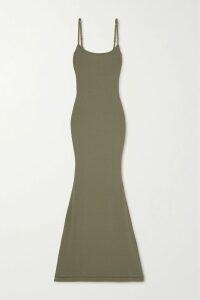 Comme des Garçons Comme des Garçons - Oversized Draped Cotton-blend Satin Dress - Black