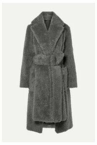 Helmut Lang - Belted Faux Fur Coat - Gray