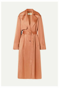 Dries Van Noten - Raven Satin Trench Coat - Blush