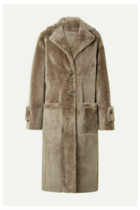 UTZON - Reversible Shearling Coat - Taupe