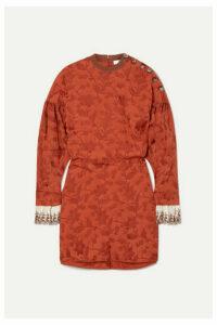Chloé - Embroidered Silk Blend-trimmed Jacquard Mini Dress - FR36