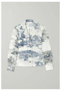 Chloé - Printed Silk-chiffon Shirt - White