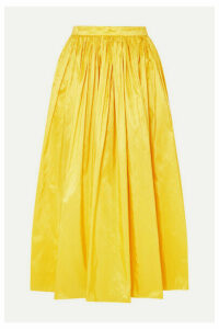 Adam Lippes - Silk-taffeta Midi Skirt - Bright yellow