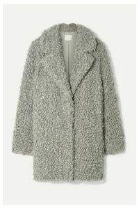 Tibi - Faux Shearling Coat - Gray