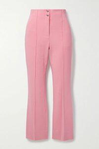 Alice + Olivia - Coley Crepe Mini Dress - Claret
