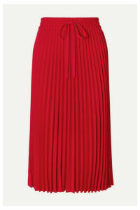 REDValentino - Pleated Crepe Midi Skirt - IT40