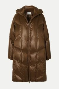 Vince - Quilted Shell Down Hooded Coat - Brown