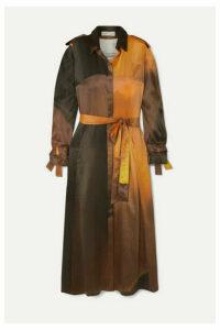 BITE Studios - Belted Organic Silk Midi Dress - Orange