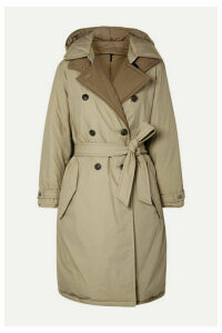 rag & bone - Marcelle Reversible Belted Padded Cotton-canvas Coat - Beige