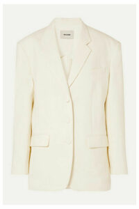 we11done - Oversized Woven Blazer - Ivory