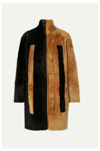 Akris - Reversible Two-tone Shearling Coat - Black