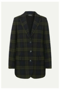 Akris - Datson Checked Wool-blend Blazer - Navy