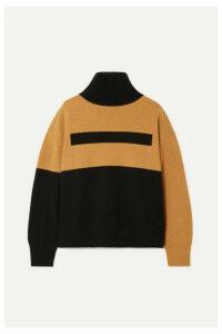 Akris - Color-block Cashmere Turtleneck Sweater - Black