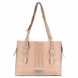 Prada Pink Leather Etiquette Tote Bag