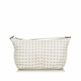 Bottega Veneta White Leather Shoulder Bag