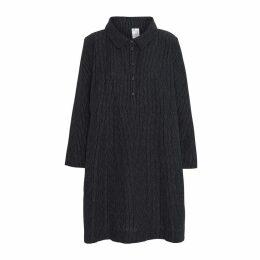 McVERDI - Black Tunic Dress With Dots