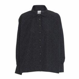 McVERDI - Oversize Black Shirt With Small Dots