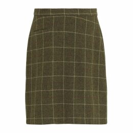 McVERDI - Skirt In Olive Checkered Wool