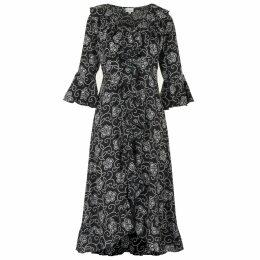 McVERDI - Long Multi-Striped Shirt Dress